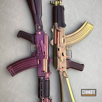 Cerakoted Ak Rifles Cerakoted With H-146 And Guncandy Top Coat