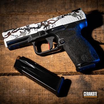 Cerakoted Custom Multicam Canik Handgun Cerakoted With H-146, H-140, H-212, H-227 And H-214