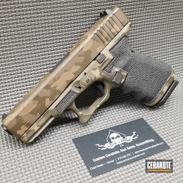 Cerakoted Woodland Camo Glock 23 Cerakoted With H-265, H-226, H-236 And Hir-146