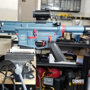 Cerakoted Jeep Themed Ar Pistol Cerakoted With H-185 And H-297