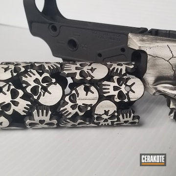 Cerakoted Lower Receiver And Handguard Cerakoted With H-190 And H-242