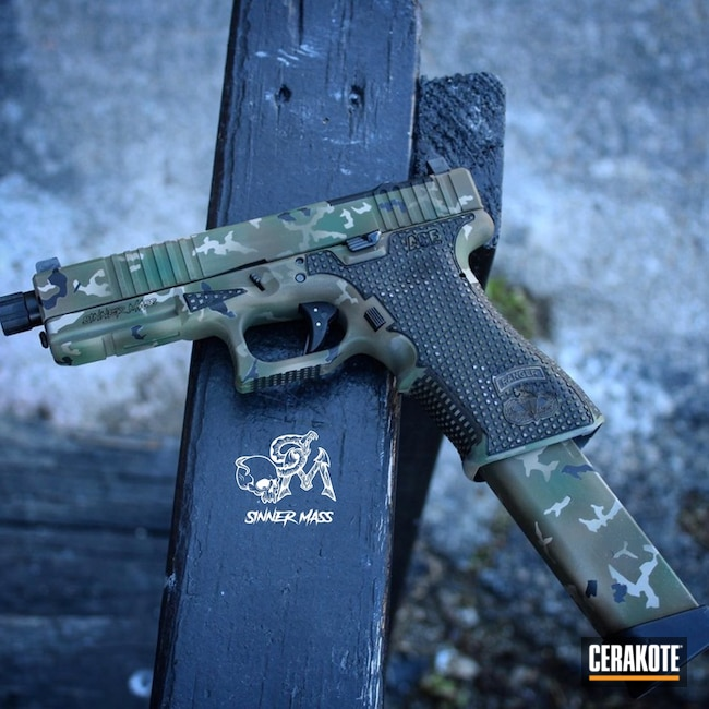 Glock MultiCam Finish Cerakoted with H-146, H-232, H-226 and H-240