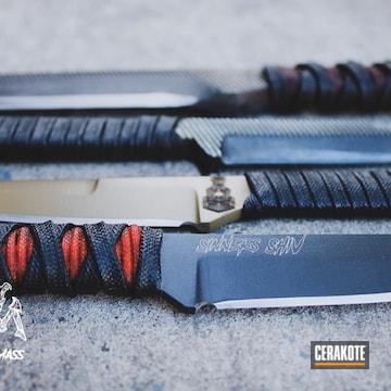 Cerakoted Knife Blades Cerakoted With E-150 And E-120