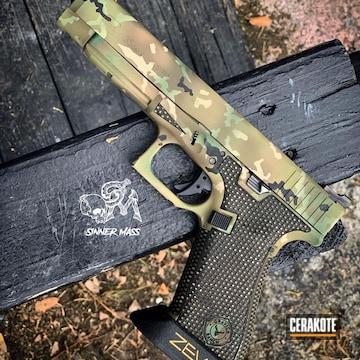 Cerakoted Multicam Zev Glock 45 Cerakoted With H-226, H-400 And Hir-146