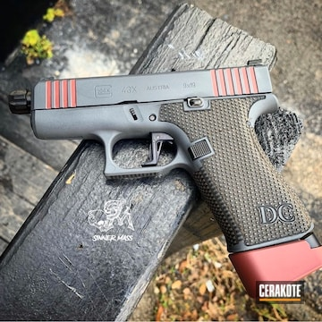 Cerakoted Two Toned Glock 43x Handgun Cerakoted With H-216 And H-234
