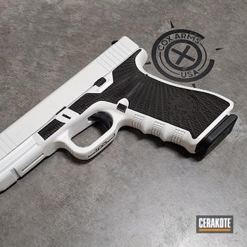 Cerakoted Two Toned Glock 17 Handgun Cerakoted With H-140