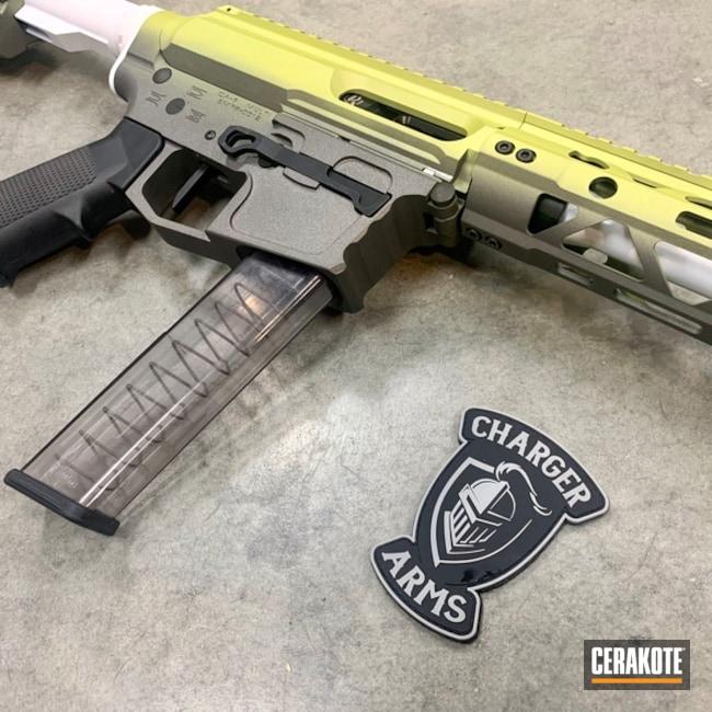 Cerakoted: S.H.O.T,AR Pistol,MOJITO H-313,Stormtrooper White H-297,Tungsten H-237,Tactical Rifle,Hombre Camo,Gun Coatings,PCC