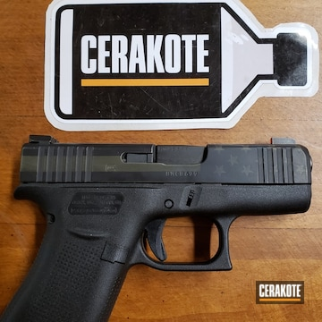 Cerakoted Subdued American Flag Glock Handgun Cerakoted With H-146 And H-236