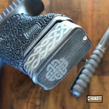 Cerakoted Celtic Themed Glock 43 Handgun Cerakoted With H-146 And H-170