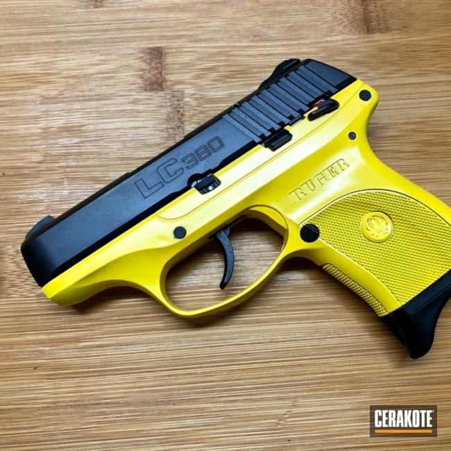 Cerakoted: SHOT,Corvette Yellow H-144,Ruger,Pistol,Gun Coatings,Ruger LC380