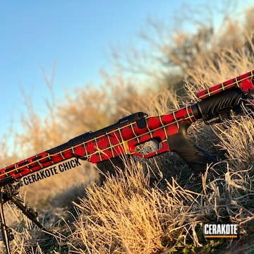 Cerakoted Buffalo Plaid Bolt Action Rifle Cerakoted With H-221, Hir-146, H-317 And H-306