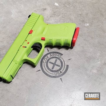Cerakoted Two Toned Glock 23 Handgun Cerakoted With H-167 And H-168