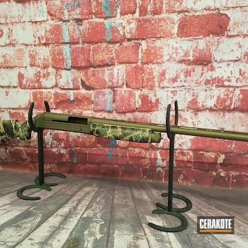 Cerakoted Benelli Super Black Eagle Shotgun Cerakoted With H-148 And Mc-161