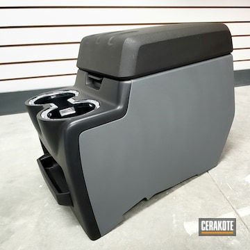 Cerakoted Automotive Center Console Cerakoted With H-146 And H-214