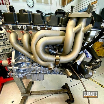 Cerakoted Bmw Race Car Headers Cerakoted Withc-7900 And C-7800