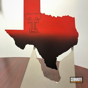 Cerakoted Custom Metal Texas Award Cerakoted With H-146, H-167 And H-147