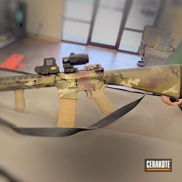 Cerakoted Custom Camo Ar Rifle Cerakoted With H-190, H-199, H-204 And H-212
