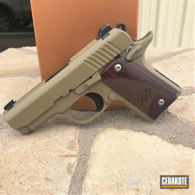 Cerakoted: S.H.O.T,Coyote Tan H-235,Kimber 1911,Kimber,Solid Tone,Pistol,Gun Coatings