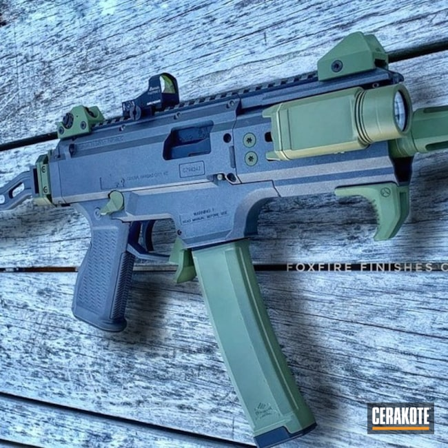 "Thumbnail image for project ""Two Toned CZ Scorpion Evo Rifle Cerakoted with H-112 and H-189"""