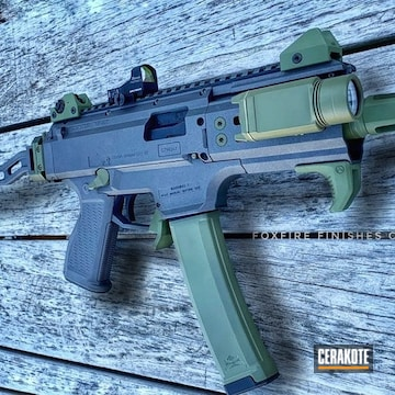 Cerakoted Two Toned Cz Scorpion Evo Rifle Cerakoted With H-112 And H-189