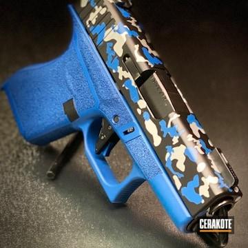 Cerakoted Custom Multicam Glock 43 Handgun Cerakoted With H-146, H-171 And H-151