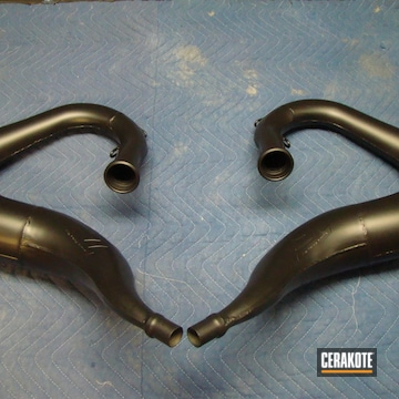 Cerakoted Motorcycle Headers Cerakoted With c-7900