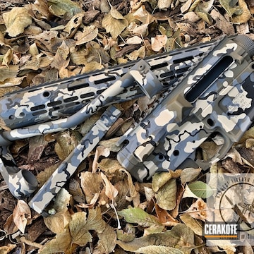 Cerakoted Kuiu Camouflaged Aero Precision Ar Parts Cerakoted With H-146, H-199, H-226 And H-214