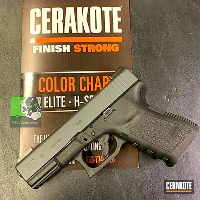 "Thumbnail image for project ""Glock 19 Slide Cerakoted with H-240"""