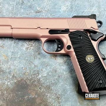 Cerakoted Wilson Combat Handgun Cerakoted With H-146 And H-311
