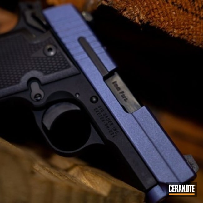 Cerakoted Sig Sauer P938 Handgun Cerakoted With H-314