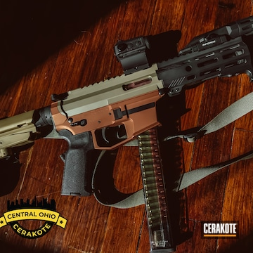 Cerakoted Custom Ar Pistol Cerakoted With H-267, H-298 And H-310