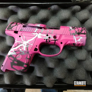 Cerakoted Custom Ladies Camo Ruger Handgun Cerakoted With H-190, H-224, H-136 And H-197