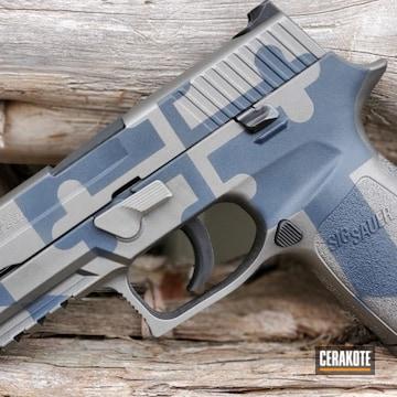 Cerakoted Custom Sig Sauer P250 Handgun Cerakoted With H-219 And H-295