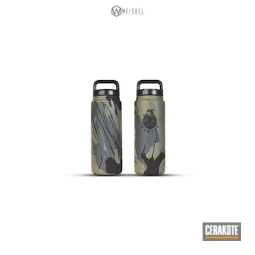 Cerakoted Custom Yeti Water Bottle Cerakoted With H-146, H-204 And H-304