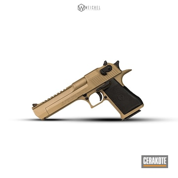 Cerakoted Two Toned Desert Eagle Handgun Cerakoted With H-267 And H-265