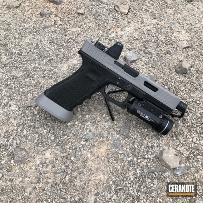 Cerakoted: SHOT,Gucci Glock,Steel Grey H-139,Two Tone,Glock,Gun Coatings