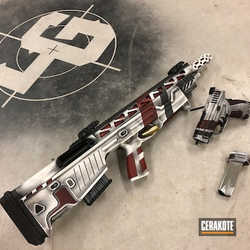 Cerakoted Matching Star Wars Themed Rifle And Handgun Cerakoted With H-146, H-221 And H-297
