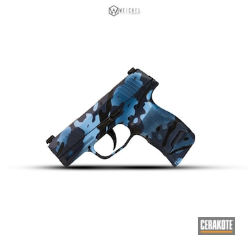 Cerakoted Navy Urban Camo Sig Sauer P365 Handgun Cerakoted With H-140, H-171 And H-221