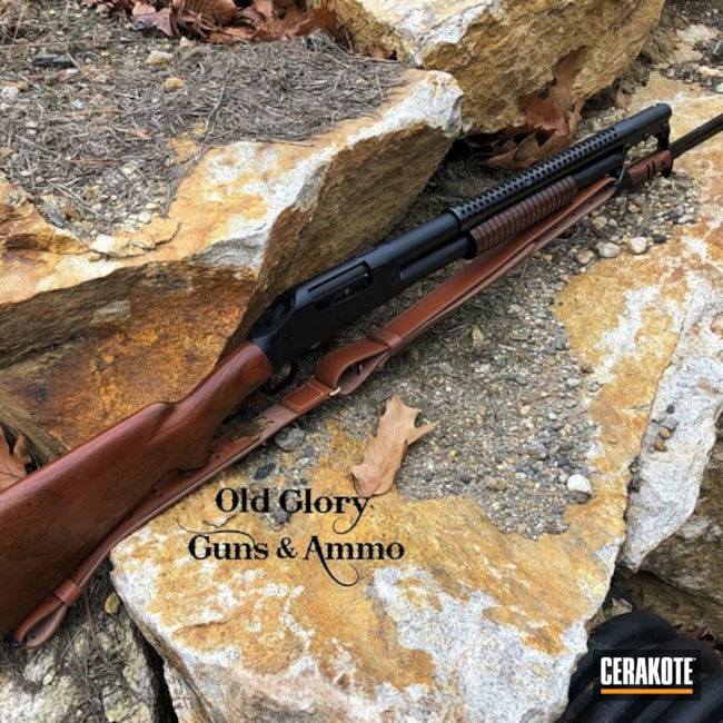 Cerakoted: Midnight Blue H-238,Winchester,Trench Gun,Pump-action,Refinished,12 Gauge,Old School,Pump-action Shotgun,SHOT,Winchester 1897,Shotgun,Bayonet,Rebuild,Reconditioned,Gun Coatings,Converted