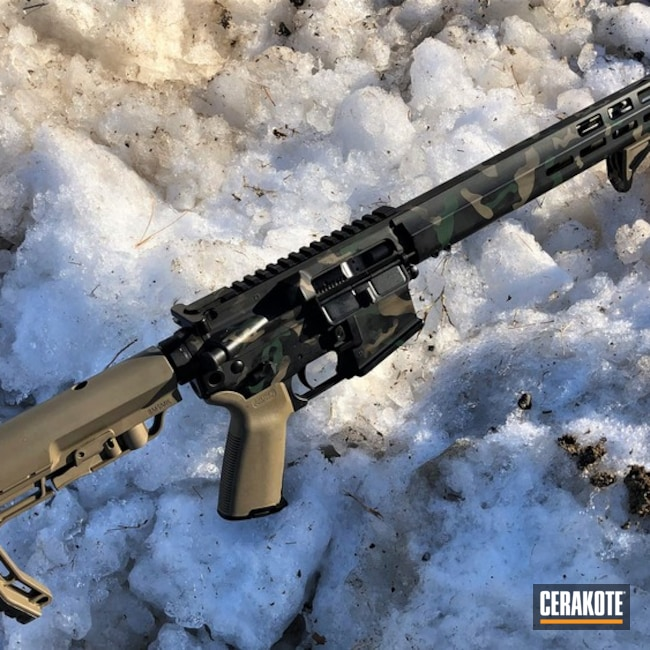 Cerakoted: SHOT,Highland Green H-200,MAGPUL® FLAT DARK EARTH H-267,MultiCam,Sniper Green H-229,Camo,Armor Black H-190,Tactical Rifle,Gun Coatings,MultiCam Black,AR-15