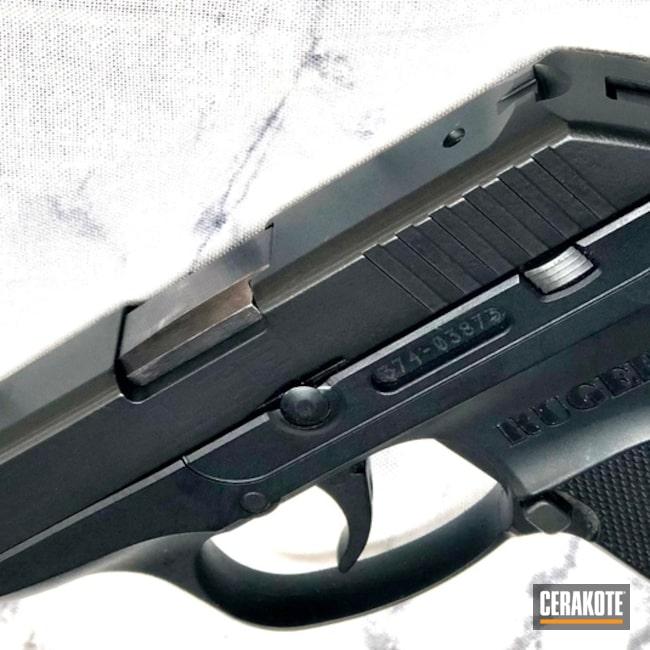 Cerakoted: S.H.O.T,LCP,Ruger,Graphite Black H-146,Solid Tone,Pistol,Gun Coatings,Slide,Pistol Slides