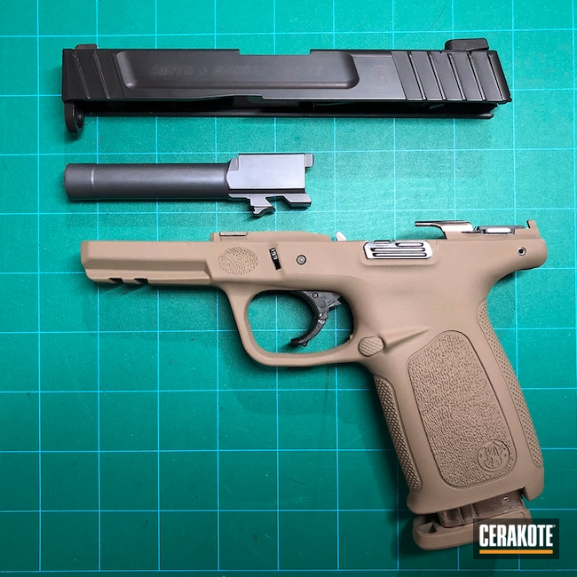 Cerakoted: SHOT,9mm,MICRO SLICK DRY FILM COATING C-110,MAGPUL® FLAT DARK EARTH H-267,BLACKOUT E-100,Smith & Wesson,SD9VE