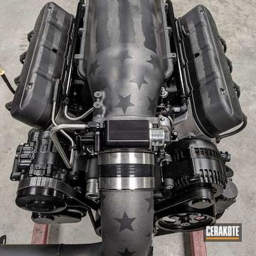 Cerakoted American Flag Engine