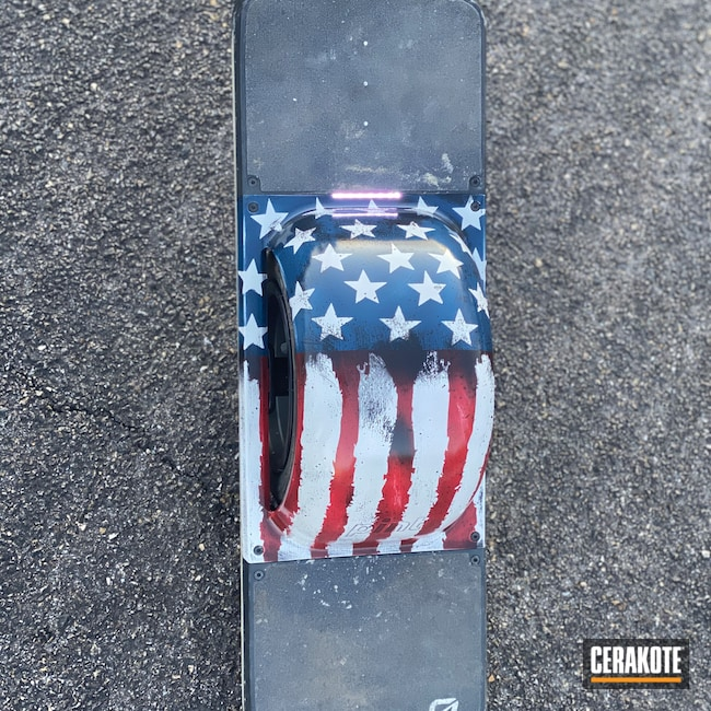 Cerakoted: Flag,Lifestyle,Graphite Black H-146,Technology,RUBY RED H-306,Stormtrooper White H-297,Distressed American Flag,American Flag,KEL-TEC® NAVY BLUE H-127,Onewheel,pint,Miscellaneous