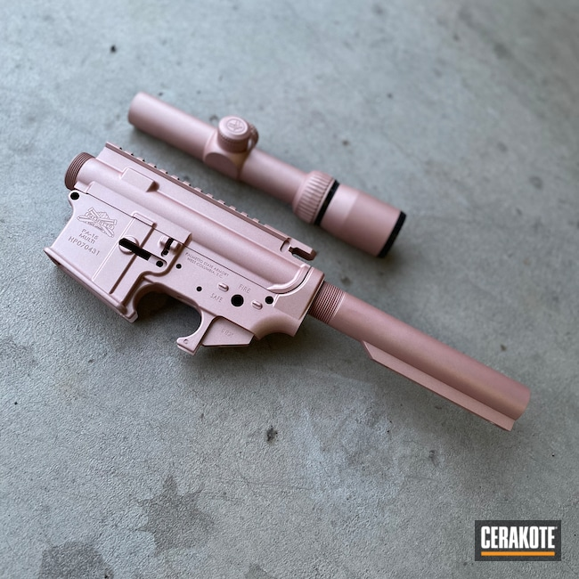 Cerakoted: S.H.O.T,Tactical Rifle,Gun Parts,Firearms,ROSE GOLD H-327
