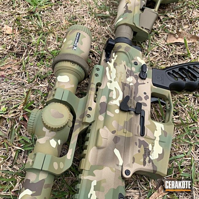 Cerakoted: SHOT,Aero Precision,MultiCam,m4e1,MULTICAM® OLIVE H-344,Tactical Rifle,Gun Coatings,Firearms