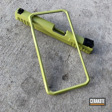 Cerakoted Green Matching Phone Case And Pistol Slide