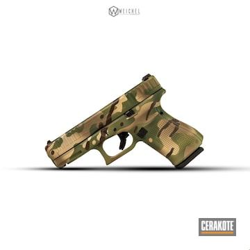 Cerakoted Glock 44 Multicam