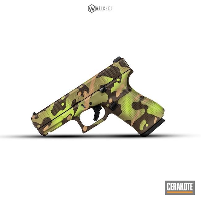 Cerakoted: SHOT,Glock 44,MultiCam Tropic,MultiCam,Zombie Green H-168,Pistol,Glock,Gun Coatings,Firearms