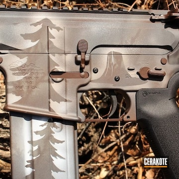 Cerakoted Custom Anderson Mfg. Rifle Camo